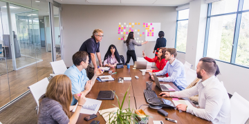 people collaborating in a conference room